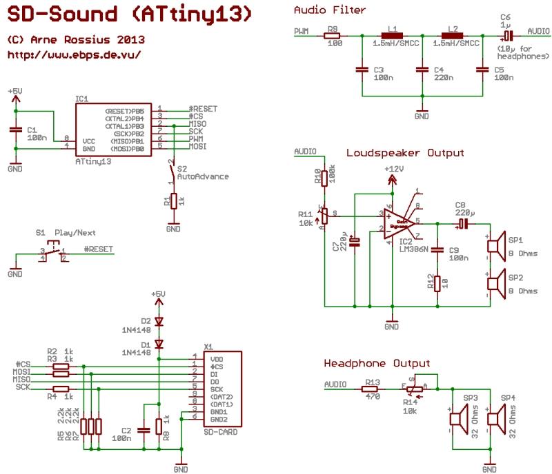 Audio-Player von SD-Karte mit ATtiny13